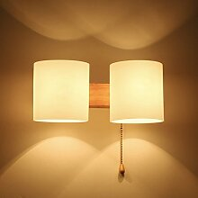 Unbekannt SKC Lighting-Wandlampe Massivholz kommt