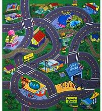 Unbekannt Spielteppich Straßenteppich 70 x 80 cm Funky Town
