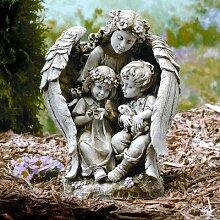 Unbekannt Statue Engel mit Kindern