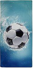 Unbekannt Strandtuch/Strandtuch, Motiv Fußball