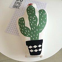 Unbekannt Südkorea Schöne Frucht Ananas Kaktus Kissen Kissen Kissen/Home Sofa Kissen (Größe : 48*48*9cm)