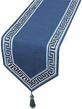 Unbekannt Table Runner Farmhouse Woven Blau, Grau,