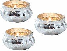Unbekannt Teelicht-Gläser/Teelicht-Halter Vintage