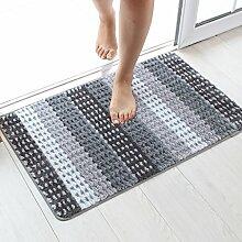 Unbekannt Teppich Grüne Toilette Badezimmer Fußmatten Sanitär Haushalt Anti-Rutsch-Matte (Farbe : Grau, Größe : 50*80cm)