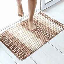 Unbekannt Teppich Grüne Toilette Badezimmer Fußmatten Sanitär Haushalt Anti-Rutsch-Matte (Farbe : Kaffee - Farbe, Größe : 50*80cm)