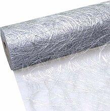 Unbekannt Tischband Silber Struktur-Tischläufer