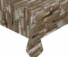 Unbekannt Tischdecke Robustes Wachstuch Holzoptik