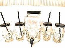 Unbekannt Totenkopf Glas Set - 3 Liter Getränke