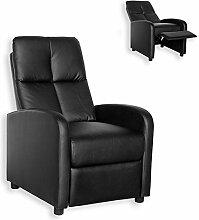 Unbekannt TV-Sessel - Schwarz - Federkern - Relaxfunktion