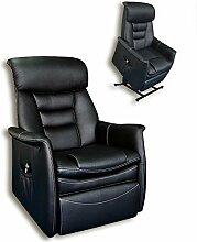 Unbekannt TV-Sessel - Schwarz - Kunstleder - Aufstehhilfe