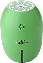 Unbekannt USB Mini Luftbefeuchter, Nebel Maker Kühler, Aroma Diffuser, 180ml Kapazität, Zitrone-Design - Grün