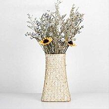 Unbekannt Vintage Gewebte Vase Bambus Dekoration