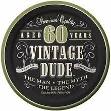 Unbekannt Vintage Partyteller 60. Geburtstag
