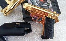 Unbekannt Walter Feuerzeug Pistole PPK Gold Farbe