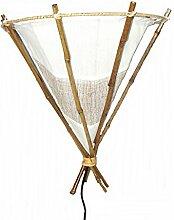 Unbekannt Wandlampe Bambus Wandleuchte Hellbraun