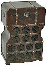 Unbekannt Weinregal für 14 Flaschen mit Kiste