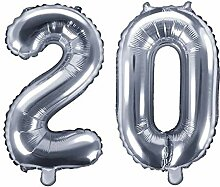 Unbekannt XXL Folien-Ballon/Zahl 20 in