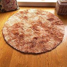 Unbekannt ZHIRONG Runde Farbverlauf Teppich