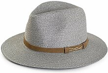 Unbekannt ZHIRONG Visier-Hut-Bambusfaser-Strohhut-faltbarer und tragbarer feuchtigkeitsabsorbierender Deo-Milben-Unterdrückungs-Sonnenschutz UVschutz (Farbe : B)
