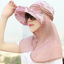 Unbekannt ZHIRONG Visier Hut Sonnenschutz UV-Schutz Im Freien Zusammenklappbar (Farbe : B)