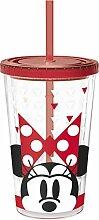 Unbranded 8013668Minnie Fashion Becher Kaffee Eis Kunststoff/aus bruchsicherem Acrylnitril rot 10x 10x 24,2cm