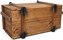 Uncle Joe´s 75760 Truhe Couchtisch Holzkiste,