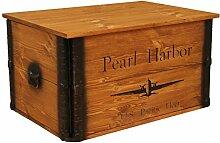 Uncle Joe´s Truhe Holzkiste Pearl Harbor, 80 x 55
