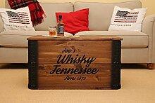 Uncle Joe´s Truhe Whisky Couchtisch Truhentisch