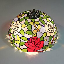Uncle Sam LI 16 inch pring Garten Schlafzimmer Gartenrosen Restaurationsglas Lampenschirme Tiffany Decken