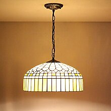 Uncle Sam LI 16 Zoll Europäischen retro warmen gelben Glas Tiffany-Lampen Tiffany Restaurant Kronleuchter Schlafzimmer Den
