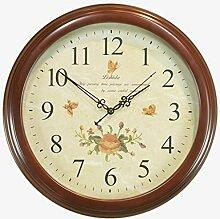 Uncle Sam LI-Antike Uhr koreanischen Garten Wohnzimmer Schlafzimmer hölzerne Wanduhr
