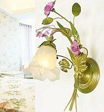 Uncle Sam LI-Europäischen minimalistischen Garten Blumen Lampen Wandleuchte warmes Schlafzimmer Nachttischlampen
