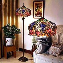 Uncle Sam LI- European Senior Glasmalerei Tiffany-Lampen Cafe Retro Wohnzimmer Stehleuchte Schlafzimmer Lampe kreative