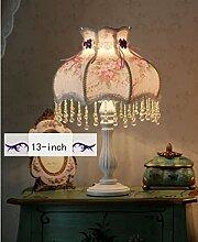 Uncle Sam LI-European-style Garten Spitzen dekorative Tuch Schlafzimmer Nachttischlampen