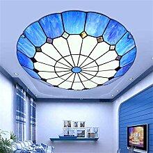 Uncle Sam LI-Jane europäischen Mittelmeer LED-Deckenleuchten runden das Kinderzimmer warme und romantische Terrasse Restaurant Tiffany-Lampen