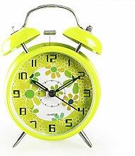 Uncle Sam LI- Students 'kreative Persönlichkeit stumme Kinder am Bett Wecker mit Nachtlicht, 4 Zoll ( farbe : Grün )