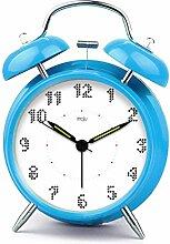 Uncle Sam LI- Students 'kreative Persönlichkeit stumme Kinder am Bett Wecker mit Nachtlicht ( farbe : Blau )