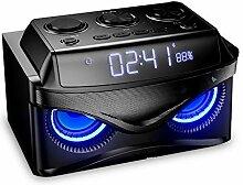 Uncle tribe Digital-Uhr Bluetooth-Lautsprecher