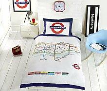 Underground London Tube Einzelbett Bettbezug und