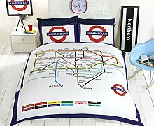 Underground London undgerground Tube Bettbezug und