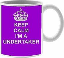 Undertaker Keramik Tasse Design auf weiß Keramik