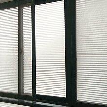 Undurchsichtige fensteraufkleber,Schlafzimmer blackout sonnenschutz glas folie für bad fensteraufkleber gefrostet wandtattoo-B 50x100cm(20x39inch)