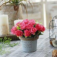 Unechte Blumen,Künstliche Deko Blumen Gefälschte