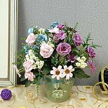 Unechte Blumen Nachahmung Blume Blumen Blumen rose Sun Flower Wohnzimmer Tisch TV-schrank Xuan Guan Tabelle Tagungen Zimmer mit Blumen, EIN