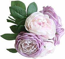 Unechte Blumen,VENMO Deko Blumen 5 Köpfe Braut