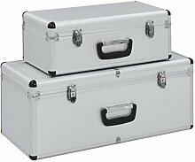 UnfadeMemory 2 STK. Aufbewahrungskoffer Aluminium