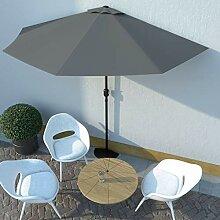 UnfadeMemory Balkon-Sonnenschirm mit Alu-Mast