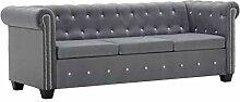 UnfadeMemory Chesterfield Sofa 3-Sitzer-Sofa