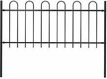 UnfadeMemory Gartenzaun mit Pfosten Stahl Zaun