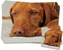 Ungarischer Vizsla Hund Zwillings Platzdeckchen